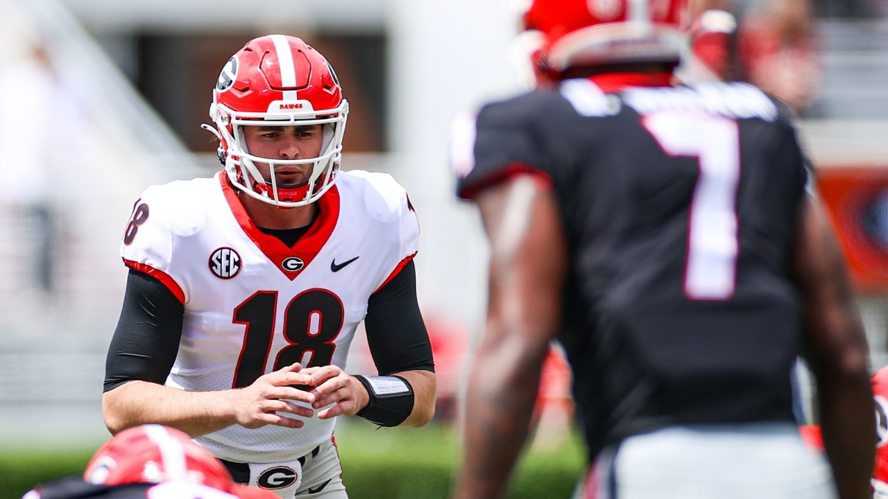 """Thoughts from the Box: J.T Daniels Impresses in """"Red"""" Team's 28-23 Victory"""
