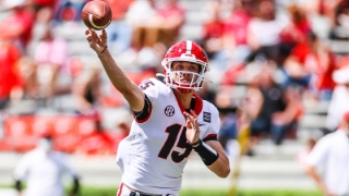 Georgia Bulldogs QB Carson Beck Shows Off Arm on Independence Day